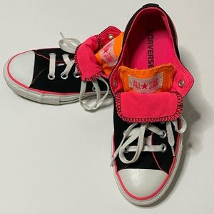 Converse All Star Double Tongue Pink, Orange Low